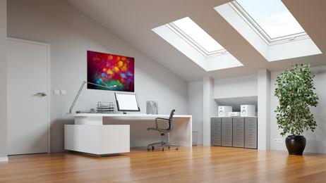 Ausgebauter Dachboden als Home Office